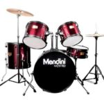 Mendini by Cecilio 22-inch 5-Piece Metallic Wine Red Adult drum set