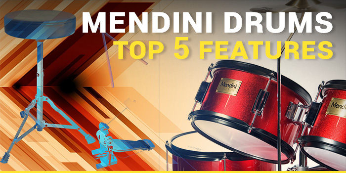 Mendini Drum Set Reviews - Desktop Banner - Mixed Color